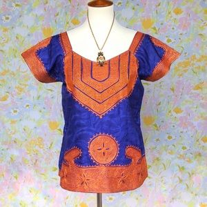 Vintage✨70s Sargent Pepper Embroidered Tunic Top!